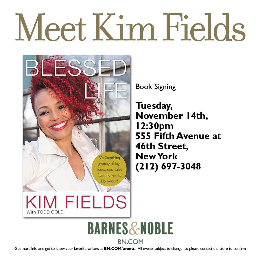Kim kicks off her book signing tour in NYC at Barnes & Noble.