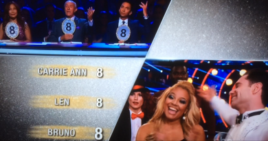 Kim scores all 8s from the judges!