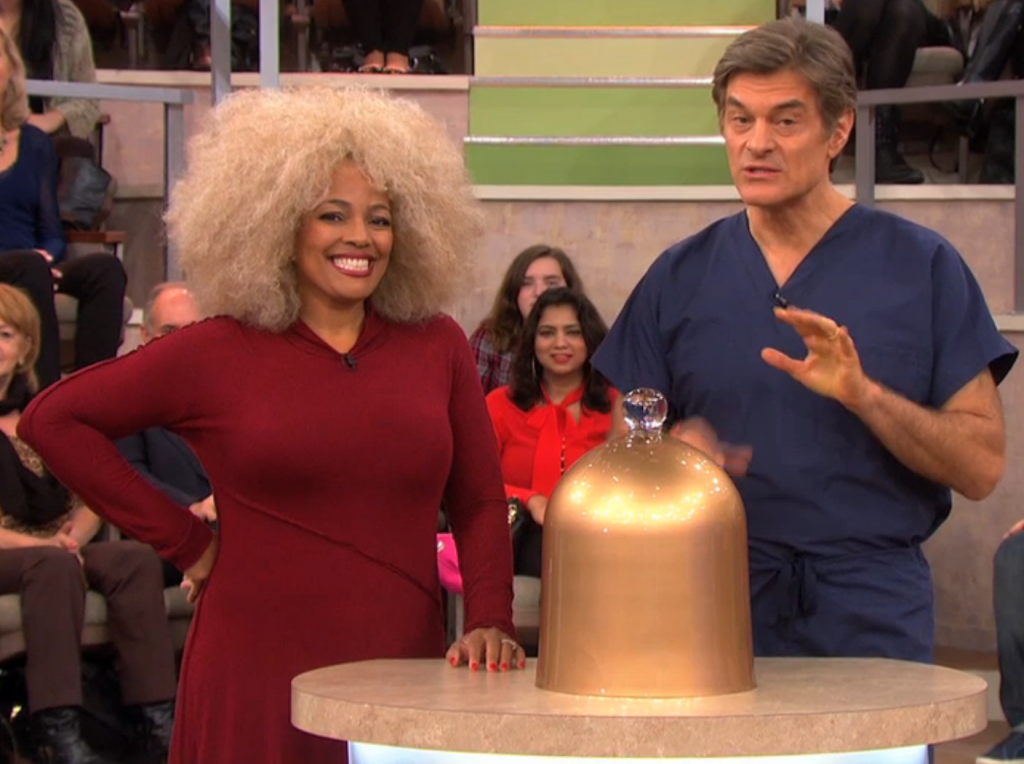 Kim Fields gets ready to reveal her guilty pleasure to Dr. Oz