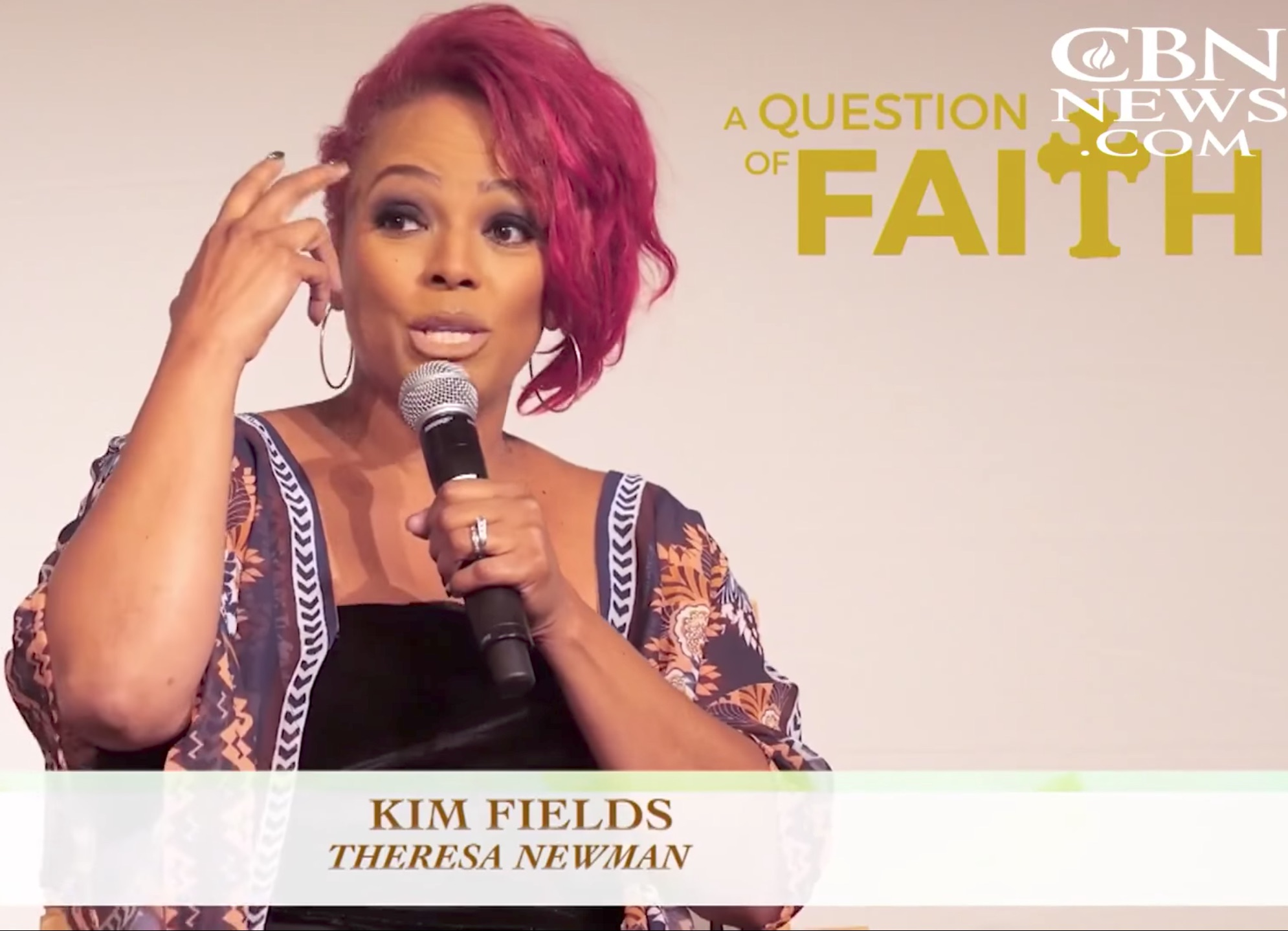 "Kim Fields talks about the experience of the movie ""A Question of Faith."""