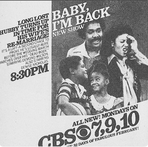 Baby I'm Back TV Guide advertisement