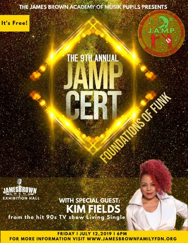 Kim Fields at the James Brown Museum, July 12, 2019 at 6pm in Augusta, GA.
