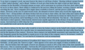 Excerpt from Robert Chapman letter to shareholders, December 29, 2012