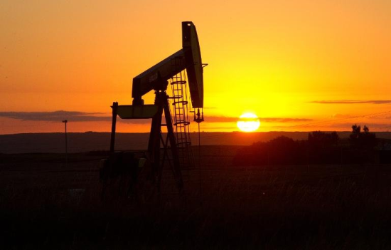 The sun sets on the oil patch