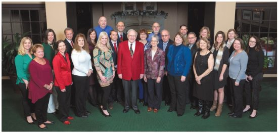 Another picture of the staff at the headquarters of Berkshire Hathaway, Inc.