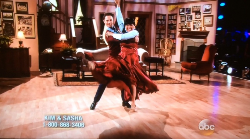 Kim Fields and Sasha Farber exit the Facts of Life with a kick!