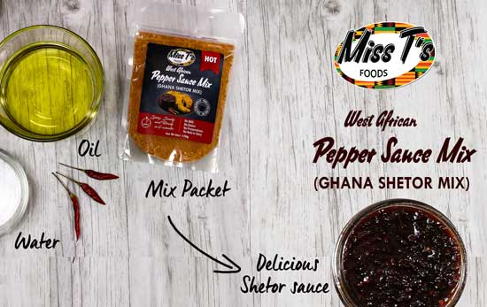 Miss T's Foods West Africa Pepper Sauce Mix (Ghana Shetor Mix)
